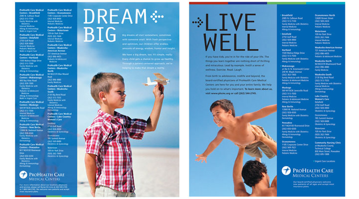 ProHealth Care Dream Big Ad