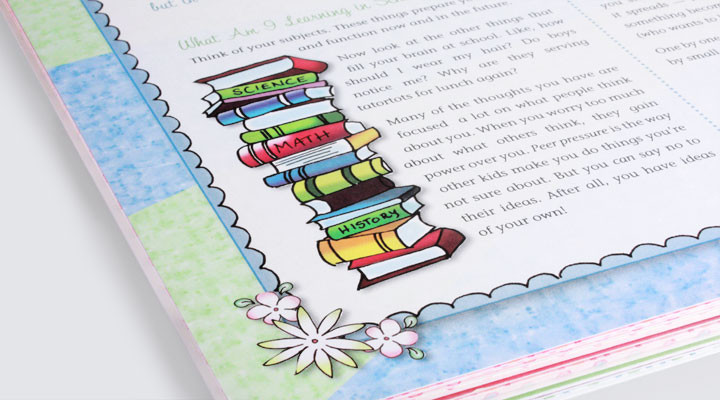 girlscouts scrapbook illustration